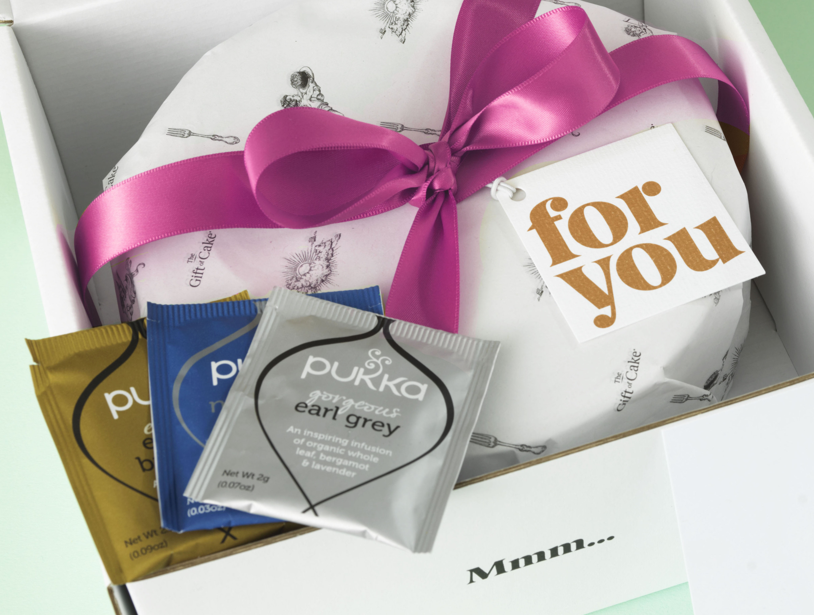 Mother\'s Day teabag offer when sending a cake with the Gift of Cake