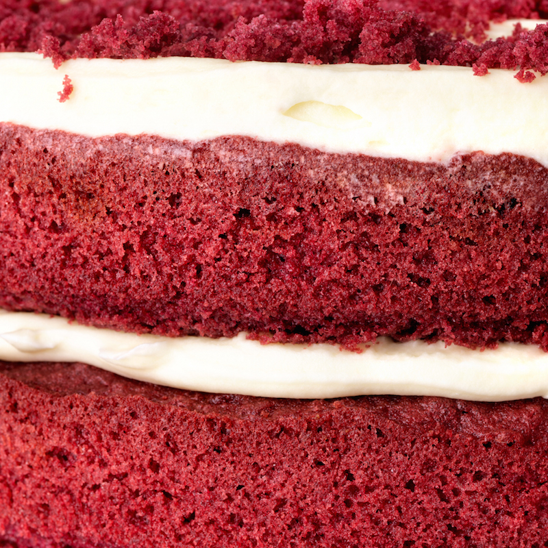 Red Velvet Cake close-up