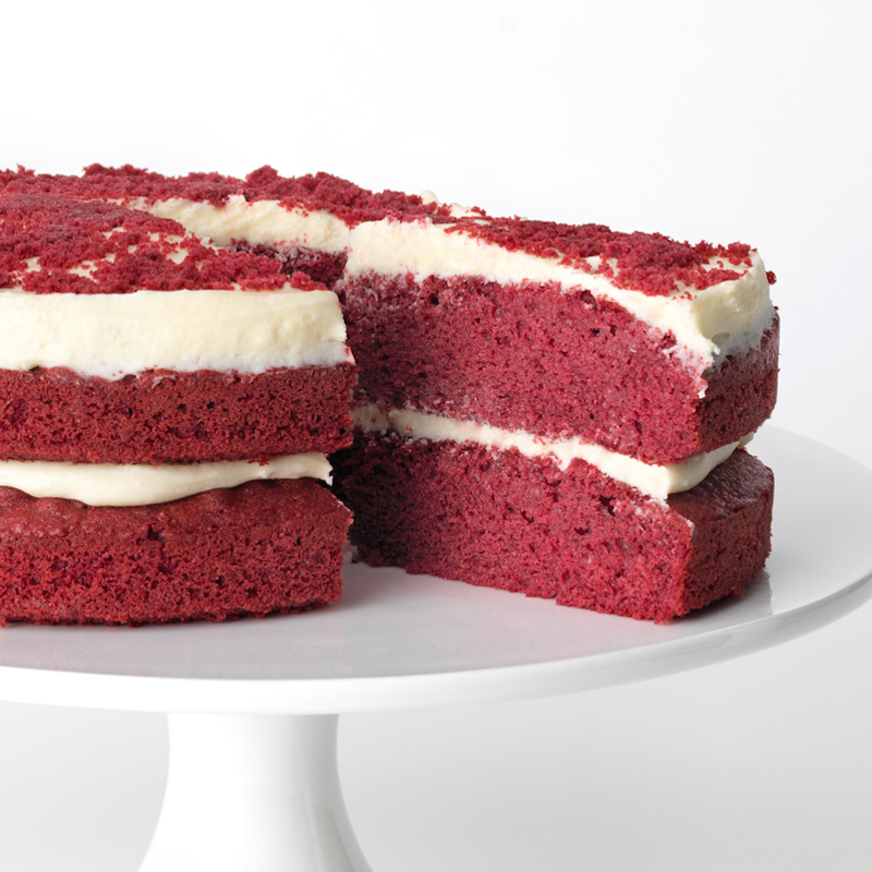 Red Velvet Cake side view